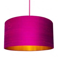Love Frankie Indian Silk Lampshade (Hot Pink & Gold) - Red Candy