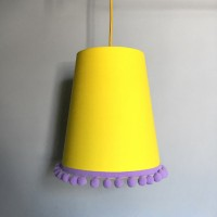 Love Frankie Pom Pom Lampshade (Sunshine Yellow) - Red Candy