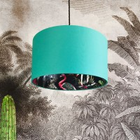 Silhouette Cotton Lampshade in Midnight Chimiracle (Jade Green) - Red Candy