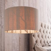 Silhouette Linen Lampshade - Cole & Son The Woods - Love Frankie