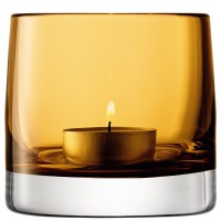 LSA Light Colour Tealight Holder - designer amber tea light