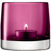 LSA Light Colour Tealight Holder (Heather) - Red Candy