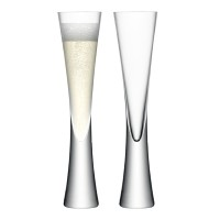 LSA Moya Champagne Flutes (Set of 2) - Red Candy