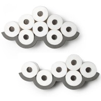 Cloud S Toilet Roll Holder (Set of 2) - Red Candy