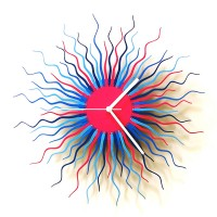 Medusa Wall Clock (Blue) - Red Candy