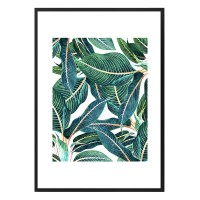 Edge & Dance Framed Print - 83 Oranges tropical leaves art print