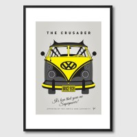 My Superhero VW Batman Framed Print - campervan comic character