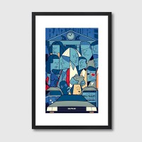 Back to the Future Framed Print - Red Candy