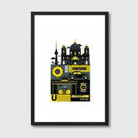 Berlin Framed Art Print - graphical city framed print