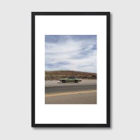 Bisbee Roadside Framed Print – retro car photo print