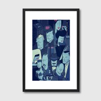 Blade Runner Framed Print - Red Candy