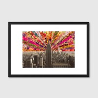 Blooming NY Framed Art Print - New York Manhattan skyline print