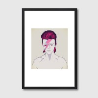 D. B. Framed Print – David Bowie graphic art print