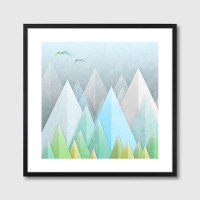 Graphic 55 Framed Print – abstract landscape art print