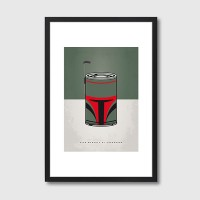 My Star Warhols Boba Fett Framed Print - Red Candy