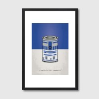 My Star Warhols R2D2 Framed Print - Red Candy