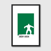 My Superhero 01 Pantone Angry Green Framed Print - Red Candy