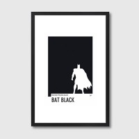 My Superhero 02 Pantone Bat Black Framed Print - Red Candy