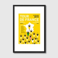 My Tour de France 2015 Framed Print - Red Candy