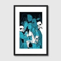 Star Wars Framed Print – Star Wars movie art print
