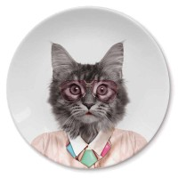 Wild Dining Plate - Cat - characterful kitten dining plate