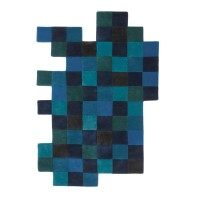 Do Lo Rez 1 Rug – blue pixel rug