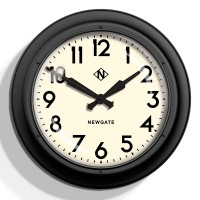 Newgate 50s Electric Wall Clock (White) - Red Candy