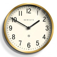 Newgate Master Edwards Clock - Radial Brass - designer 30cm clock