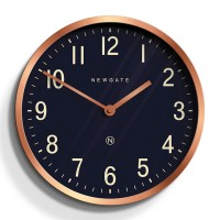 Newgate Master Edwards Clock - Radial Copper - petrol blue clock