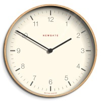 Newgate Mr Clarke Pale Wood Clock - large plywood wall clock