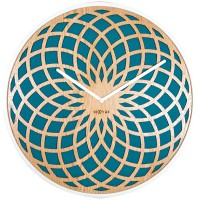 Nextime Large Sun Clock (Turquoise) - Red Candy