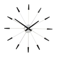 Plug Inn Wall Clock Black - funky black wall clock by Nextime