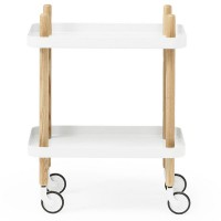 Normann Copenhagen Block Table (White) - Red Candy