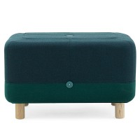 Sumo Pouf - modern dark green foot stool