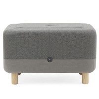 Sumo Pouf – designer grey foot stool