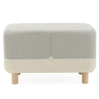 Sumo Pouf - modern light grey foot rest