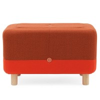 Sumo Pouf - Scandi style orange red seat