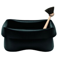Black Rubber Washing Up Bowl by Norman Copenhagen