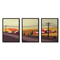 Landscape Framed Art Print Collection - Red Candy