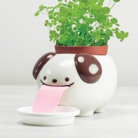 Papa Peropon Drinking Animal Planter - Dog - self-watering pot