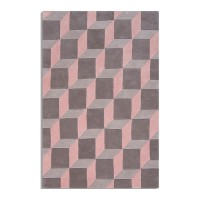 Geometric Rug (Pink) - Red Candy