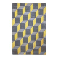 Geometric Rug - yellow contemporary rug
