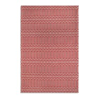 Serengeti Rug - red tribal print rug
