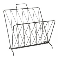 Diamond Raster Magazine Rack - Black - wire magazine holder