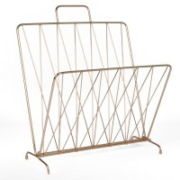 Diamond Raster Magazine Rack - Copper - briefcase magazine holder