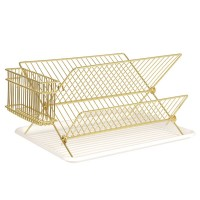 Gold Wire Dish Rack - metallic dish drainer - Present Time
