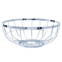 Open Grid Fruit Basket - Chrome - metal wire fruit basket