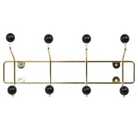 Saturnus Coat Rack - Gold - art deco coat hook - Present Time