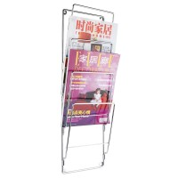 Wire Wall Magazine Rack (Steel) - Red Candy