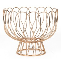 Wired Fruit Bowl - Copper - metal wire fruit dish - Present Time